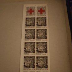 Sellos: FRANCIA 1986 YVERT CARNET Nº C2035 CRUZ ROJA MNH. Lote 221518972