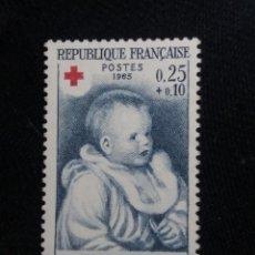 Sellos: FRANCIA, 0,25+0,10C, CRUZ ROJA, AÑO 1965. SIN USAR.. Lote 221600368