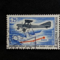 Sellos: FRANCIA, 0,25C, LINEA POSTAL REGULAR, AÑO 1968.. Lote 221601626