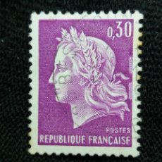 Sellos: FRANCIA, 0,30C, MARIANNE, AÑO 1967.. Lote 221601825