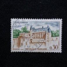 Sellos: FRANCIA, 0,30C, CASTILLO AMBOISE, AÑO 1963.. Lote 221603187