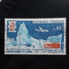 Sellos: FRANCIA, 0,40C, EXPEDITION POLAIRES FR, AÑO 1968.. Lote 221603470
