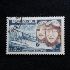 Sellos: FRANCIA, 0,40C, NUNGESSER ET COLI, AÑO 1967. SIN USAR.. Lote 221604245