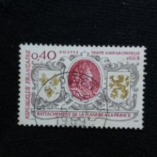 Sellos: FRANCIA, 0,40C, TRAITE D AIX LA, AÑO 1968. SIN USAR.. Lote 221604456