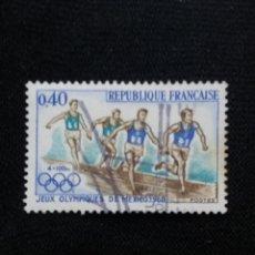 Sellos: FRANCIA, 0,40C, JUEGOS ALIMP MEXICO, AÑO 1968. SIN USAR.. Lote 221604627