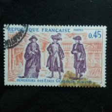 Sellos: FRANCIA, 0,45C, OUVERTURE DES ETATS , AÑO 1971.. Lote 221606653