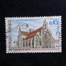 Sellos: FRANCIA, 0,45C, EGLISE DE BROU, AÑO 1969.. Lote 221607002