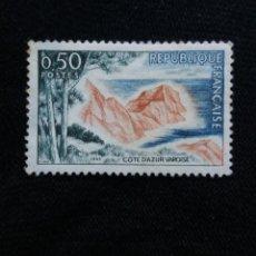 Sellos: FRANCIA, 0,50C, COTE D AZUR VAROISE, AÑO 1963. SIN USAR. Lote 221707063
