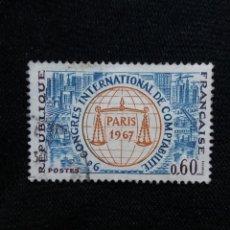 Sellos: FRANCIA, 0,60C, CONGRESO PARIS, AÑO 1967.. Lote 221708152