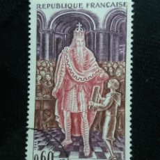 Sellos: FRANCIA, 0,60C, CHARLEMAGNE, AÑO 1966.. Lote 221708370
