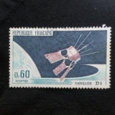 Sellos: FRANCIA, 0,60C, SATELLITE D1, AÑO 1966. SIN USAR. Lote 221708861