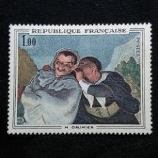 Sellos: FRANCIA, 1,00F, DAUMIER, AÑO 1966. SIN USAR. Lote 221713003