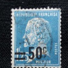 Sellos: FRANCIA, 1,25F, LUIS PASTEUR, AÑO 1925.. Lote 221714200