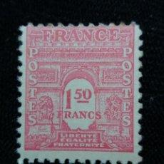 Sellos: FRANCIA, 1,50F, LIBERTE EGALITE FRATERNITE, AÑO 1945.. Lote 221714698