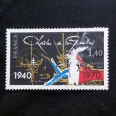 Sellos: FRANCIA, 1,30F, CHARLES DE GAULLE, AÑO 1970. SIN USAR.. Lote 221817183
