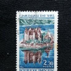 Sellos: FRANCIA, 2,30F, LAGO DE BORT LES ORGWES, AÑO 1966. SIN USAR. Lote 221821412