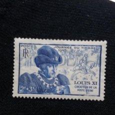 Sellos: FRANCIA, 2F+3F, LOUIS XI, AÑO 1945. SIN USAR. Lote 221822308
