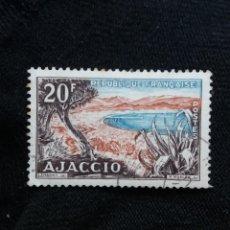 Sellos: FRANCIA, 20F, AJACCIO, AÑO 1954. SIN USAR. Lote 221826210