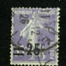 Sellos: FRANCIA, 35C, SEMBRADORA, AÑO 1925,SOBREESCRITO.. Lote 222067030
