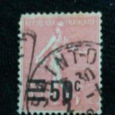 Sellos: FRANCIA, 65C, SEMBRADORA, AÑO 1926, SOBREESCRITO.. Lote 222068657