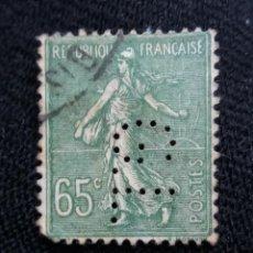 Sellos: FRANCIA, 65C, SEMBRADORA, AÑO 1923, PERFORADO.. Lote 222068815