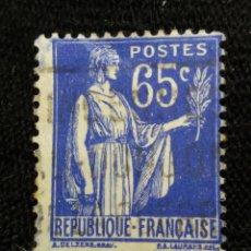 Sellos: FRANCIA, 65C, RAMA DE OLIVO, AÑO 1937,. Lote 222069017