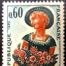 Sellos: FRANCIA 1965- FOTO 057 - Nº 1449 , IVERT , NUEVO. Lote 222251143
