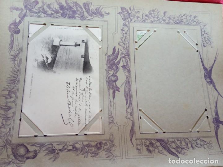 Sellos: ANTIGUO ALBUM CON 398 TARJETAS POSTALES FRANCIA. - Foto 7 - 225781243