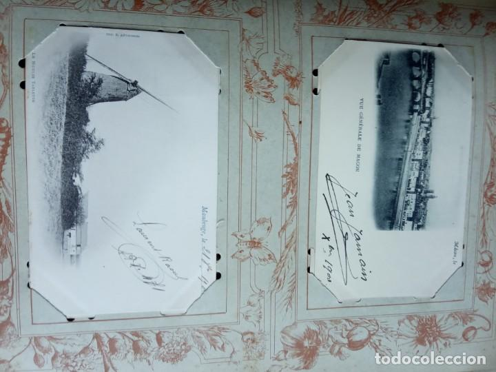 Sellos: ANTIGUO ALBUM CON 398 TARJETAS POSTALES FRANCIA. - Foto 61 - 225781243