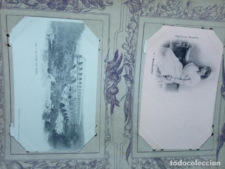 Sellos: ANTIGUO ALBUM CON 398 TARJETAS POSTALES FRANCIA. - Foto 157 - 225781243