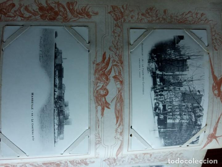 Sellos: ANTIGUO ALBUM CON 398 TARJETAS POSTALES FRANCIA. - Foto 174 - 225781243