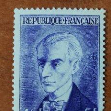 Sellos: FRANCIA N°1071 MNH**AÑO 1956 PERSONAJES RAVEL. Lote 225854960