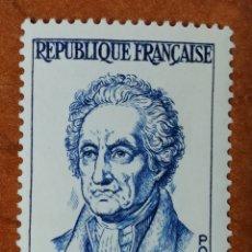 Sellos: FRANCIA N°1138 MH*PERSONAJES 1957 (FOTOGRAFÍA REAL). Lote 225861595