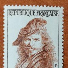 Sellos: FRANCIA N°1135 MH*PERSONAJES 1957(FOTOGRAFÍA REAL). Lote 225863306
