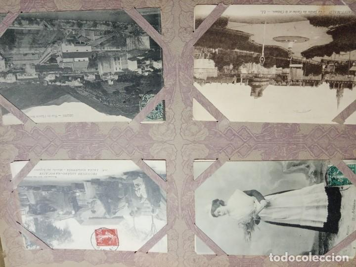 Sellos: ANTIGUO ALBUM CON 490 TARJETAS POSTALES FRANCIA. - Foto 9 - 226376160
