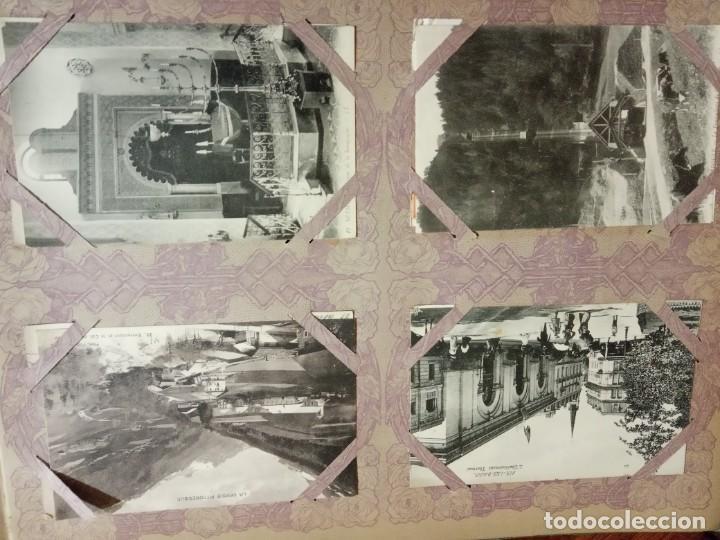 Sellos: ANTIGUO ALBUM CON 490 TARJETAS POSTALES FRANCIA. - Foto 13 - 226376160