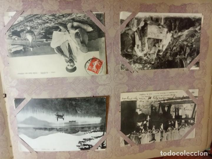 Sellos: ANTIGUO ALBUM CON 490 TARJETAS POSTALES FRANCIA. - Foto 19 - 226376160