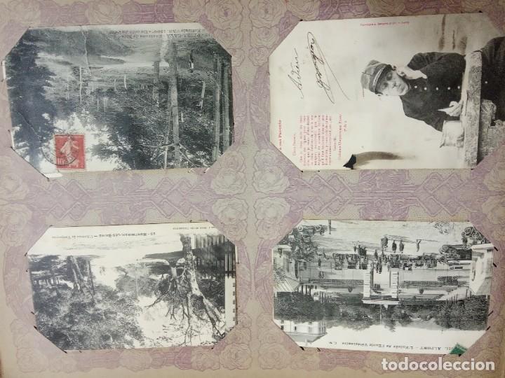 Sellos: ANTIGUO ALBUM CON 490 TARJETAS POSTALES FRANCIA. - Foto 24 - 226376160
