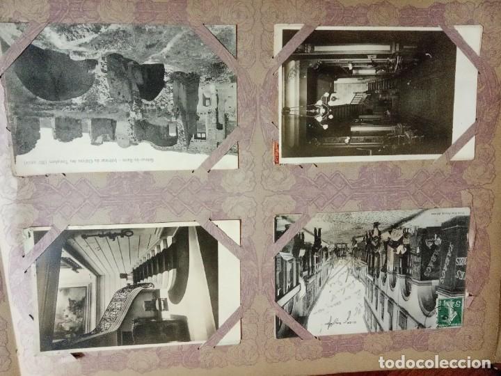 Sellos: ANTIGUO ALBUM CON 490 TARJETAS POSTALES FRANCIA. - Foto 29 - 226376160