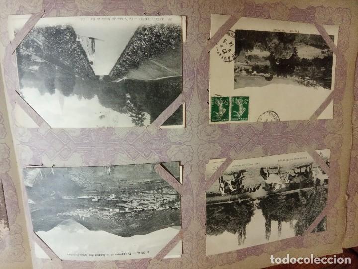 Sellos: ANTIGUO ALBUM CON 490 TARJETAS POSTALES FRANCIA. - Foto 35 - 226376160