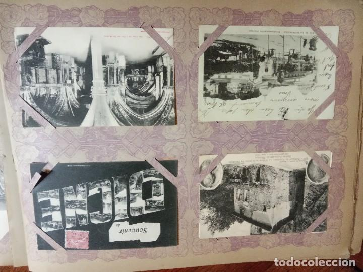 Sellos: ANTIGUO ALBUM CON 490 TARJETAS POSTALES FRANCIA. - Foto 41 - 226376160