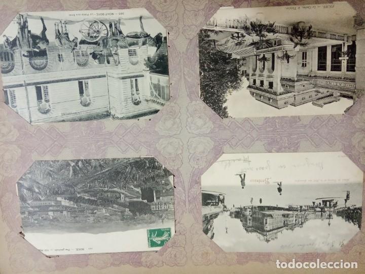 Sellos: ANTIGUO ALBUM CON 490 TARJETAS POSTALES FRANCIA. - Foto 44 - 226376160