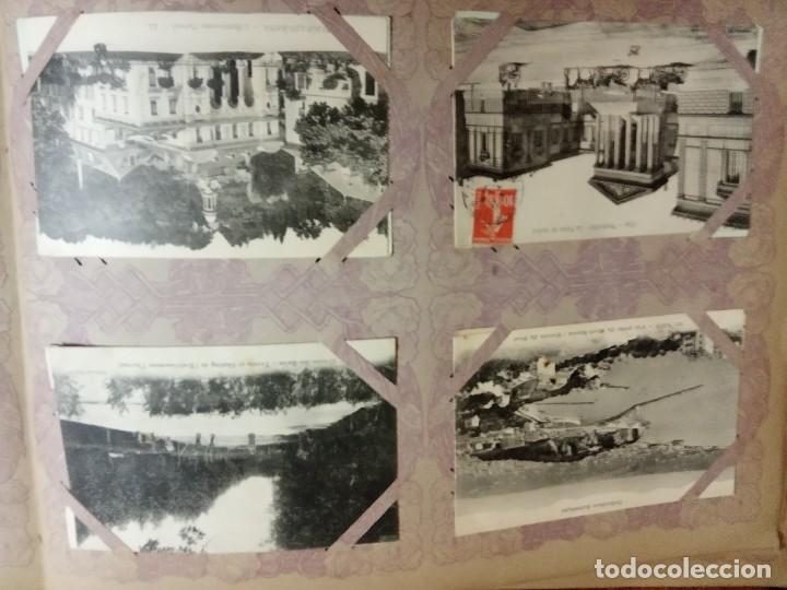 Sellos: ANTIGUO ALBUM CON 490 TARJETAS POSTALES FRANCIA. - Foto 47 - 226376160