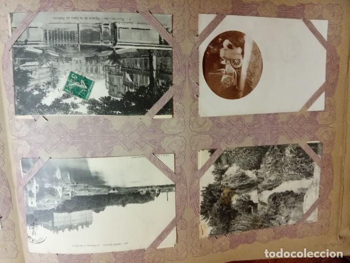 Sellos: ANTIGUO ALBUM CON 490 TARJETAS POSTALES FRANCIA. - Foto 53 - 226376160