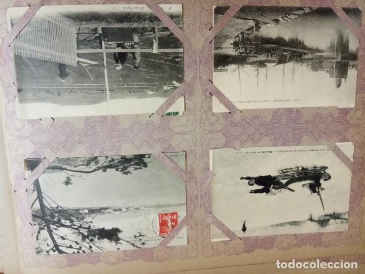Sellos: ANTIGUO ALBUM CON 490 TARJETAS POSTALES FRANCIA. - Foto 57 - 226376160