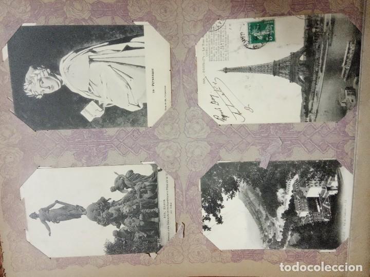 Sellos: ANTIGUO ALBUM CON 490 TARJETAS POSTALES FRANCIA. - Foto 58 - 226376160