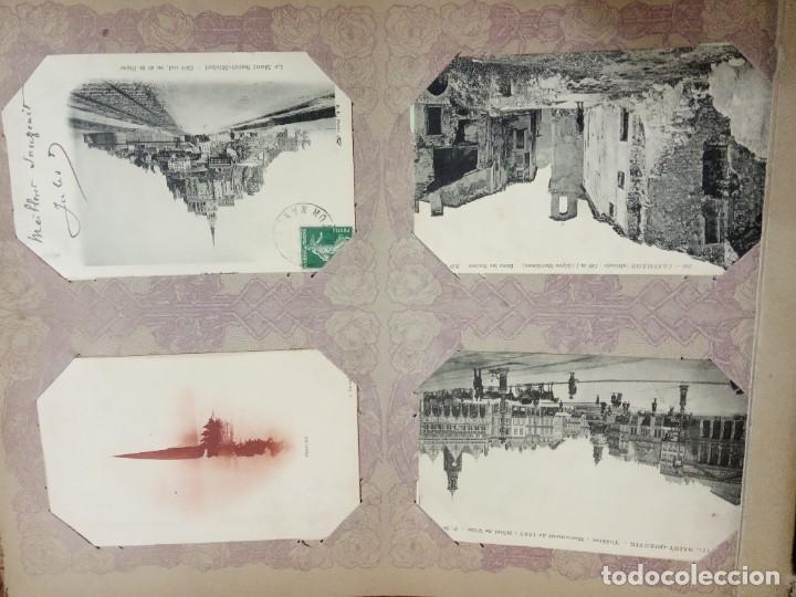 Sellos: ANTIGUO ALBUM CON 490 TARJETAS POSTALES FRANCIA. - Foto 66 - 226376160