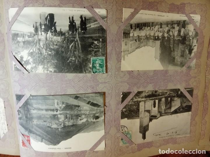 Sellos: ANTIGUO ALBUM CON 490 TARJETAS POSTALES FRANCIA. - Foto 67 - 226376160