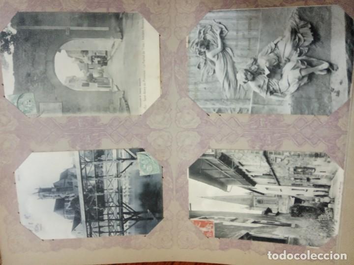 Sellos: ANTIGUO ALBUM CON 490 TARJETAS POSTALES FRANCIA. - Foto 74 - 226376160