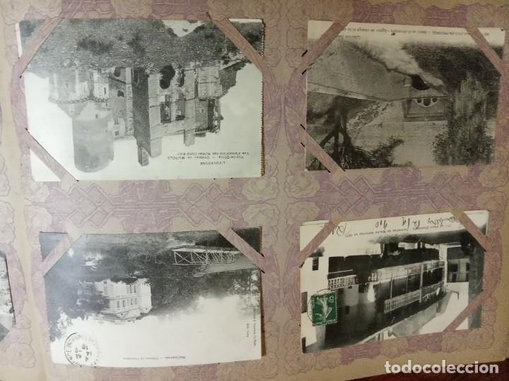 Sellos: ANTIGUO ALBUM CON 490 TARJETAS POSTALES FRANCIA. - Foto 77 - 226376160